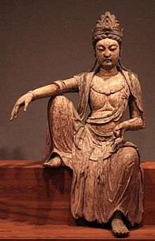 Kuan-yan bodhisattva, Northern Sung dynasty, China, c. 1025, wood, Honolulu Academy of Arts.jpg